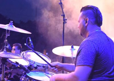 Ryan on drums